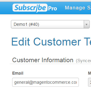 Subscribe Pro Customer Service Portal / UI
