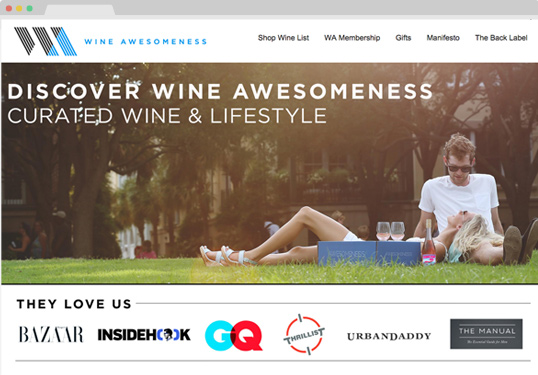 Screenshot wineawesomeness.com