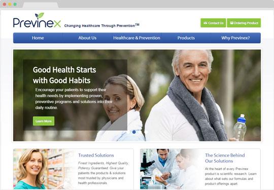 Screeshot previnex.com