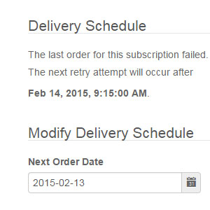 Subscribe Pro Delivery Schedule & Automatic Retry
